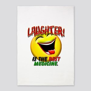 LAUGHTER IS THE BEST MED 1 pract flat 5'x7'Are