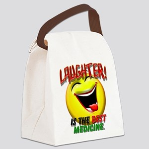 LAUGHTER IS THE BEST MED 1 pract flat Canvas L