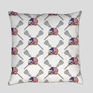 American Flag Lacrosse Everyday Pillow