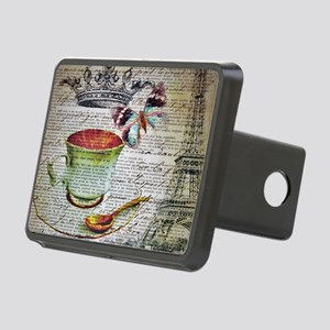romantic chic paris coffee Rectangular Hitch Cover
