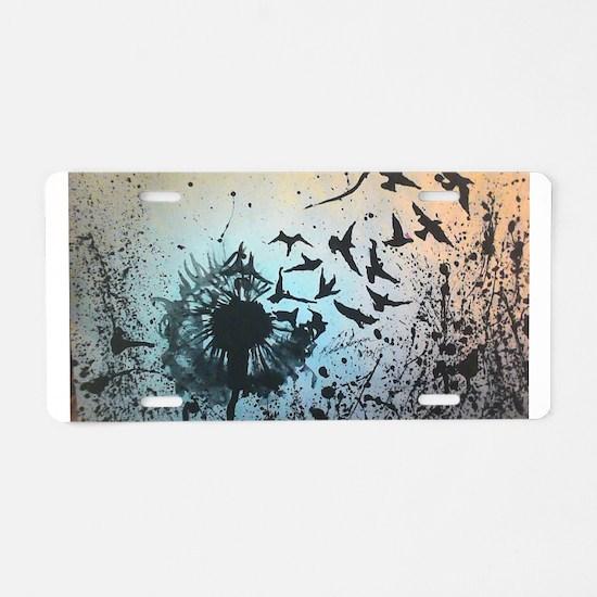 Wulan's Dandelion Aluminum License Plate