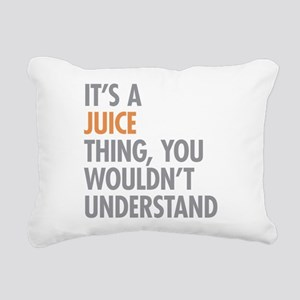 Juice Thing Rectangular Canvas Pillow