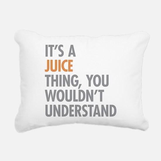 Juice Thing Rectangular Canvas Pillow