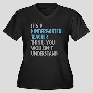 Kindergarten Teacher Thing Plus Size T-Shirt