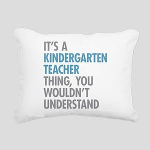 Kindergarten Teacher Thi Rectangular Canvas Pillow