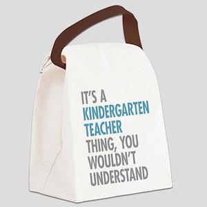 Kindergarten Teacher Thing Canvas Lunch Bag