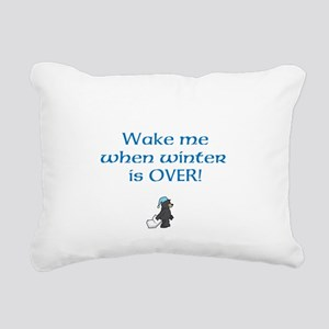 Wake Me When Winter is OVER! Rectangular Canvas Pi