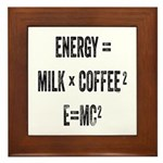 Energy Milk Coffee Framed Tile