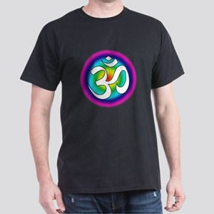 Colorful Om Design Dark T-Shirt