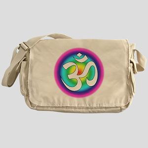 Colorful Om Design Messenger Bag