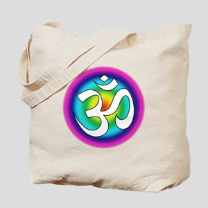 Colorful Om Design Tote Bag