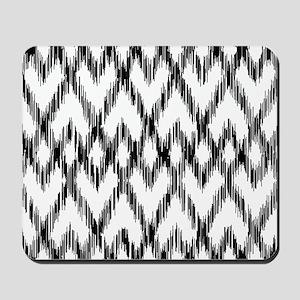 Ikat Pattern Black/White Mousepad