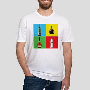 liquor pop art Fitted T-Shirt