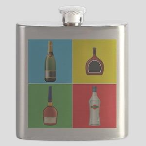 liquor pop art Flask