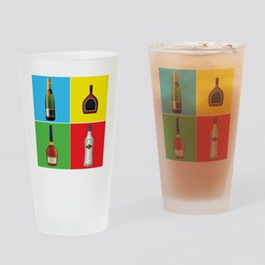 liquor pop art Drinking Glass