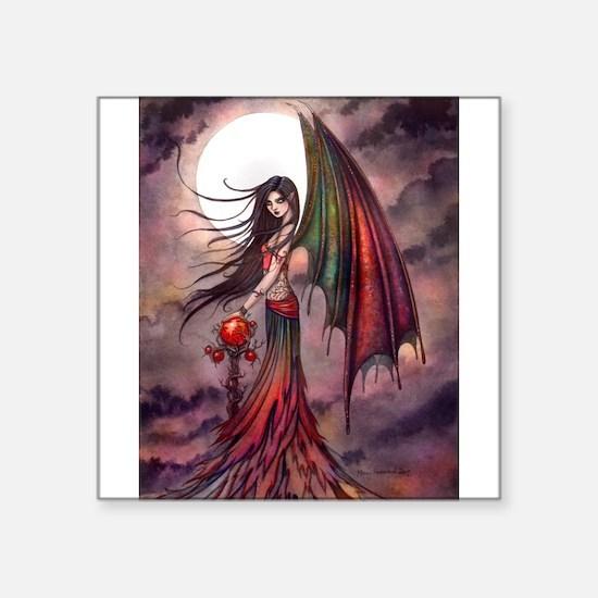 Mystic Autumn Vampire Halloween Fairy Sticker
