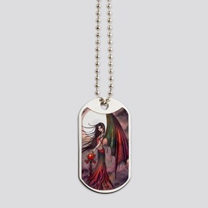 Mystic Autumn Vampire Halloween Fairy Dog Tags