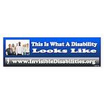 A Disability Looks Like (bumper) Bumper Sticker