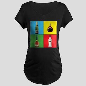 liquor pop art Maternity T-Shirt