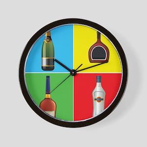 liquor pop art Wall Clock
