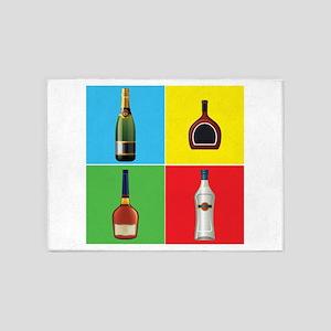 liquor pop art 5'x7'Area Rug