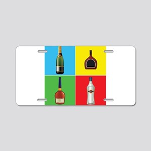 liquor pop art Aluminum License Plate