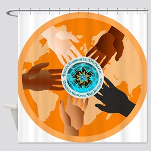 Helping Hands Color the World Orang Shower Curtain