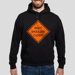 Right Shoulder Closed Hoodie (dark)