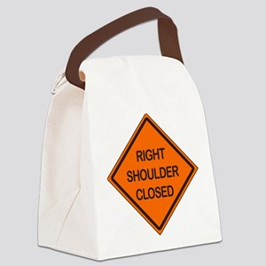Right Shoulder Closed Canvas Lunch Bag