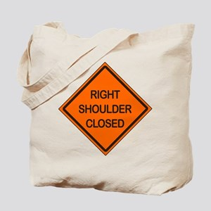 Right Shoulder Closed Tote Bag