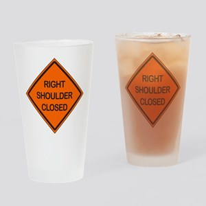 Right Shoulder Closed Drinking Glass