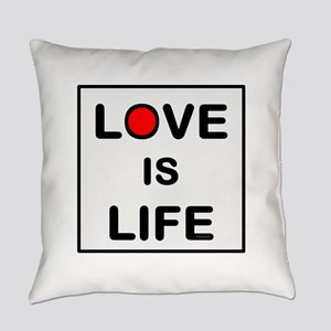 OYOOS Love Is Life design Everyday Pillow