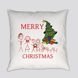OYOOS Merry Christmas Family design Everyday Pillo
