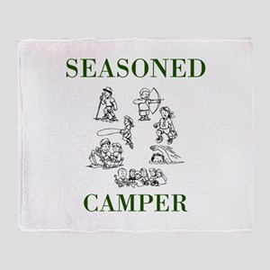 Seasoned Camper Throw Blanket