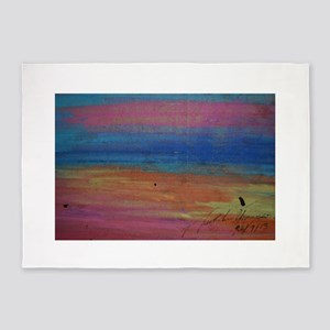 Colorful Sunset 5'x7'Area Rug