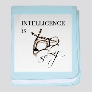 Intelligency is Sexy Glasses baby blanket
