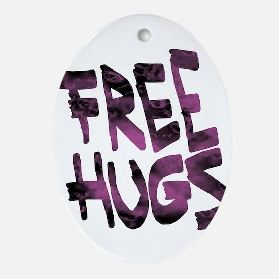 Free Hugs Oval Ornament