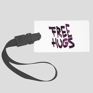 Free Hugs Large Luggage Tag