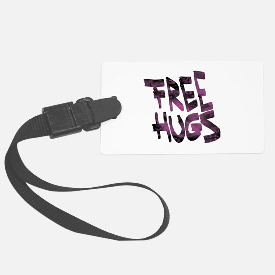 Free Hugs Large Luggage Tag