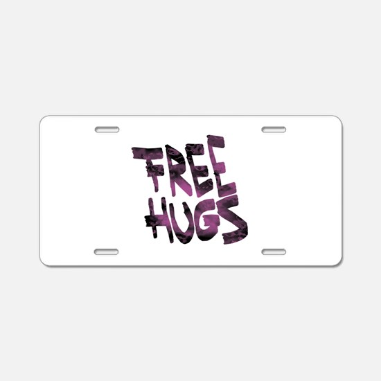 Free Hugs Aluminum License Plate