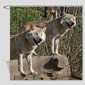 Wolf017 Shower Curtain