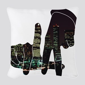 Los Angeles Woven Throw Pillow