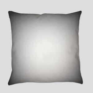 Black To White Radial Gradient Everyday Pillow
