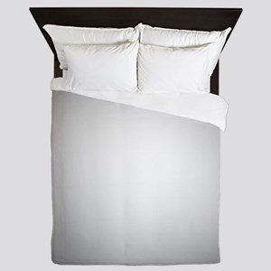 Black To White Radial Gradient Queen Duvet
