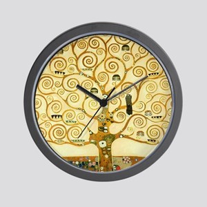 Gustav Klimt Tree Of Life Wall Clock
