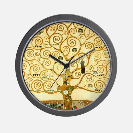 Gustav Klimt Tree Of Life Wall Clock
