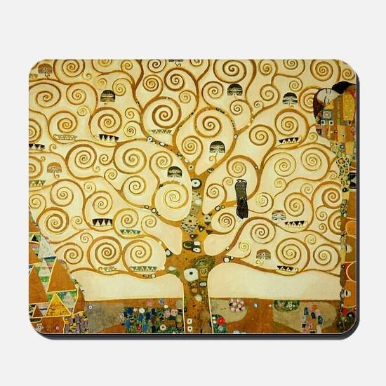 Gustav Klimt Tree Of Life Mousepad