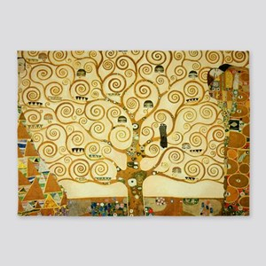 Gustav Klimt Tree Of Life 5'x7'Area Rug