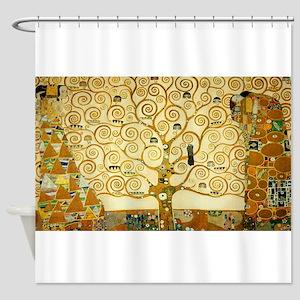 Gustav Klimt Tree Of Life Shower Curtain