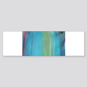 Underwater Abstract Blue Ocean Bumper Sticker